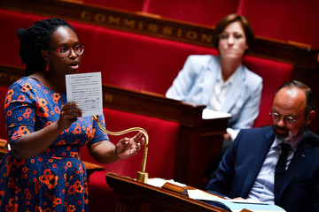 French government's spokesperson Sibeth Ndiaye speaks during a sessionn of questions to the government at the French National Assembly in Paris