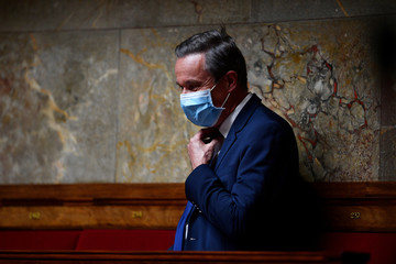 French Debout La France (DLF) party member of parliament Nicolas Dupont-Aignan attends a session of questions to the Government in Paris