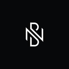 Professional Innovative Initial NB logo and BN logo. Letter BN NB Minimal elegant Monogram. Premium Business Artistic Alphabet symbol and sign