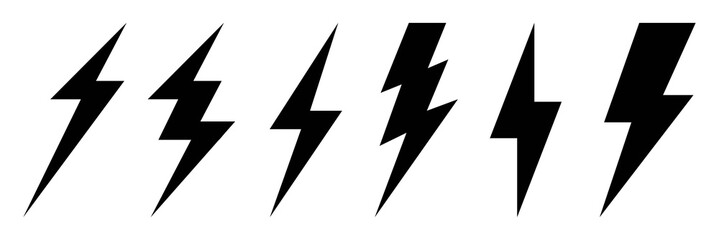 Lightning bolt icons set.Set lightning bolt. Creative vector illustration of thunder and bolt lighting flash icon collection design. Lightning icons symbol - vector.