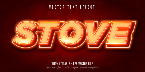 Fototapeta Editable text effect - very hot stove style