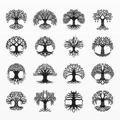 Variety of celtic tree set