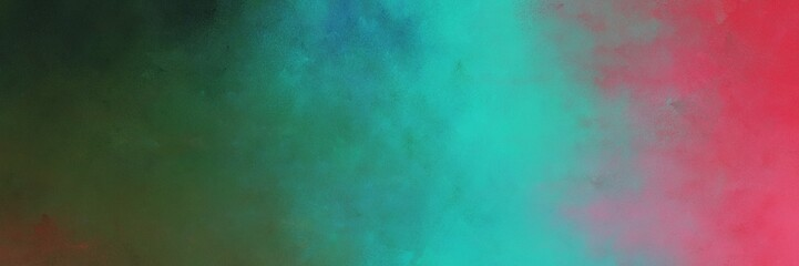 beautiful vintage abstract painted background with blue chill and light sea green colors and space for text or image. can be used as postcard or poster Wall mural