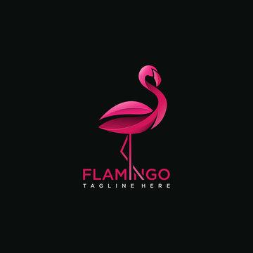 Flamingo bird logo concept