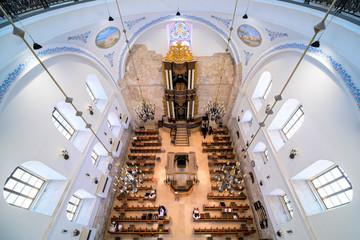 Hurva Synagogue interior view.