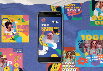90S Futuristic Social Media Pack