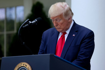 U.S. President Trump speaks about negotiations with pharmaceutical companies over the cost of insulin, at the White House in Washington