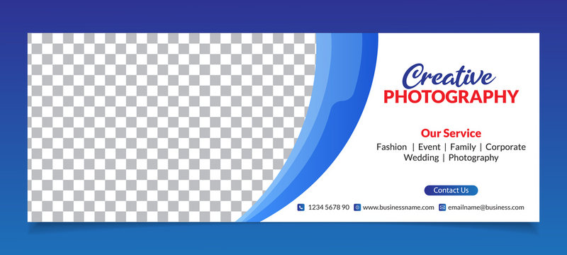 Premium Vector - Modern Abstract Photography Facebook Cover Banner Template