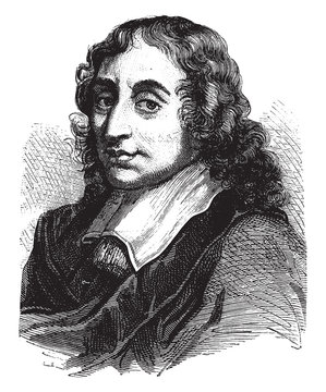 Blaise Pascal, vintage illustration.