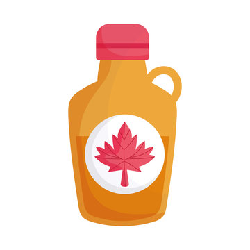 Isolated canadian maple syrup vector design