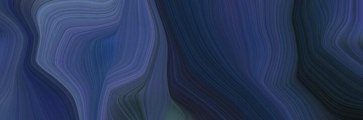 Foto auf Gartenposter Aubergine lila landscape orientation graphic with waves. modern curvy waves background design with dark slate gray, slate gray and very dark blue color