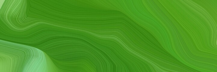 Deurstickers Groene landscape orientation graphic with waves. abstract waves illustration with dark green, pastel green and moderate green color