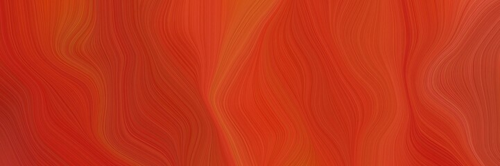 Foto auf AluDibond Rot kubanischen landscape orientation graphic with waves. abstract waves design with firebrick, coffee and strong red color