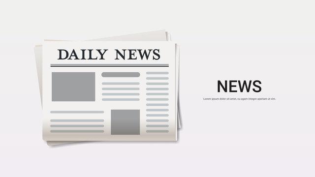 daily news newspaper breaking news headline press mass media concept copy space horizontal vector illustration