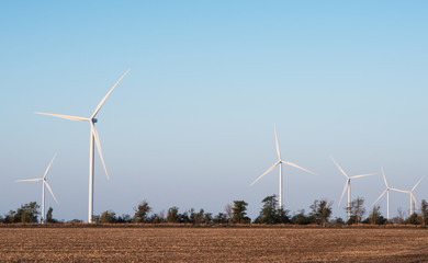Photo of installed wind turbines
