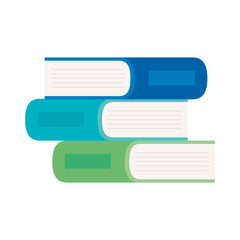 pile of books, on white background, stack of books, concept of learning vector illustration design