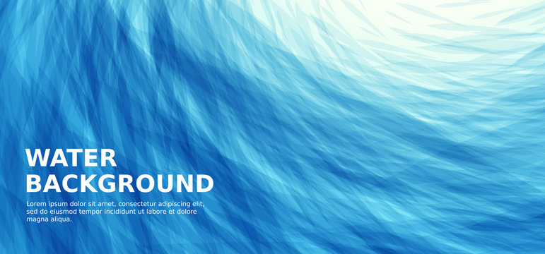 Abstract blue sea wavy background