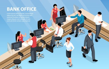 Isometric Bank Illustration