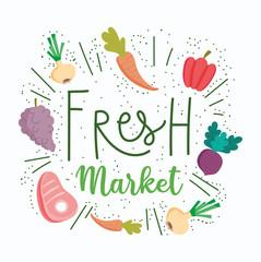 healthy food, fresh market organic ingredient nutrition diet