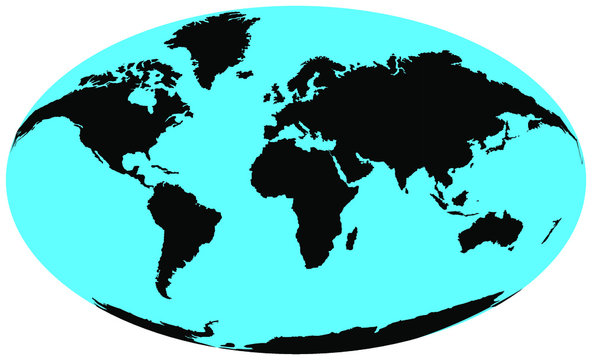 World Map in Oval Shape VectorImages, Stock Photos & Vectors. oval surround the globe. Abstract elliptic globe.