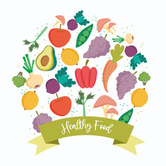 healthy food, products organic fresh balance nutrition diet