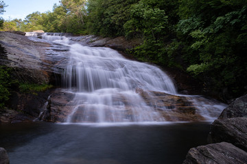Printed roller blinds Waterfalls The cascades of the Lower Falls in Graveyard Fields, a very popular waterfall and hiking destination near Asheville, North Carolina in the Blue Ridge Mountains off the Blue Ridge Parkway.
