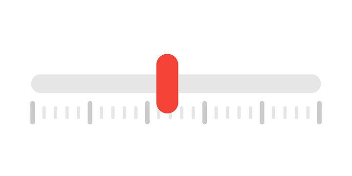 Horizontal indicator ruler bar icon. Scale meter vector illustration for design.