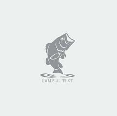bass fish logo