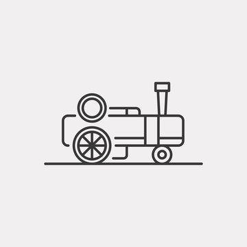 Steam engine icon. Traction engine symbol modern, simple, vector, icon for website design, mobile app, ui. Vector Illustration