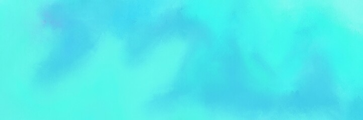 abstract antique horizontal background banner with turquoise, aqua marine and medium turquoise color. can be used as header or banner Wall mural
