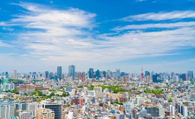 東京風景 5月 青空と緑