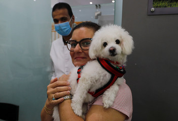 Veterinary clinic encourages people not to abandon their pets, amid concerns about the spread of the coronavirus disease (COVID-19), in Cairo