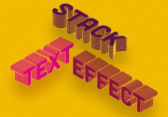 Stacked Text Effect Mockup