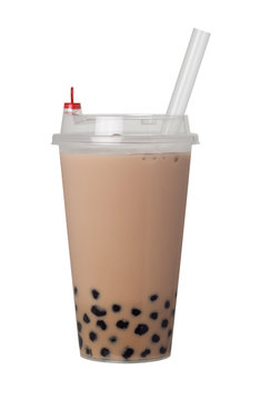 Bubble milk tea with pearls