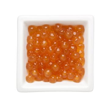 Golden tapioca pearls