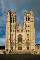 Cathedral of St. Michael and St. Gudula - medieval Roman Catholic church in central Brussels, Belgium