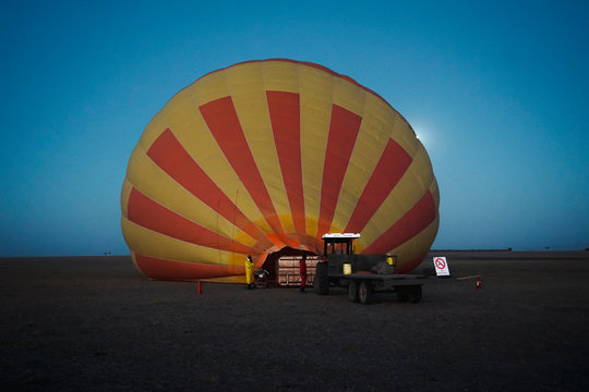 Hot air balloon trip over the African savannah in Masai Mara