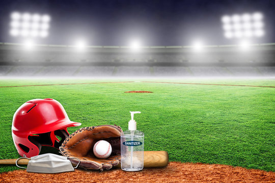 New Normal in Baseball Game Played in Empty Stadium During COVID-19