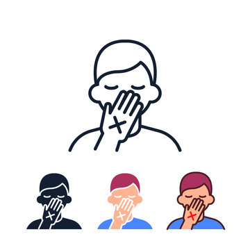 Avoid touching your eyes, nose and mouth icon. Vector design illustration. EPS 10.