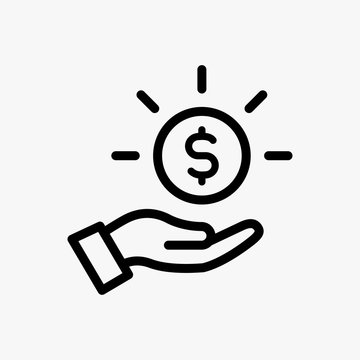 Save money icon designed in a line style, editable stroke
