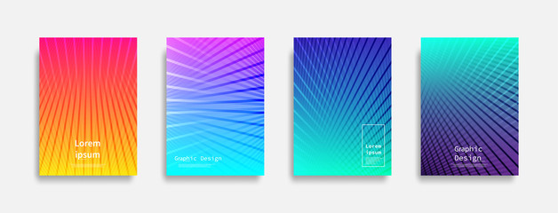 Foto auf Acrylglas Abstrakte Welle Minimal covers design. Colorful line design. Future geometric patterns. Eps10 vector.