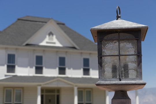 Antique exterior light - Victorian Home (1896) in Loma Linda, California