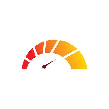 full color speedometer max speed logo design