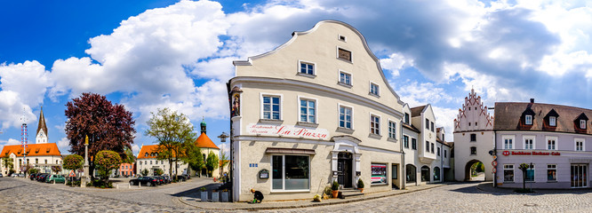 Vohburg, Germany - April 27: old town with historic buildings of Vohburg an der Donau on April 27, 2020