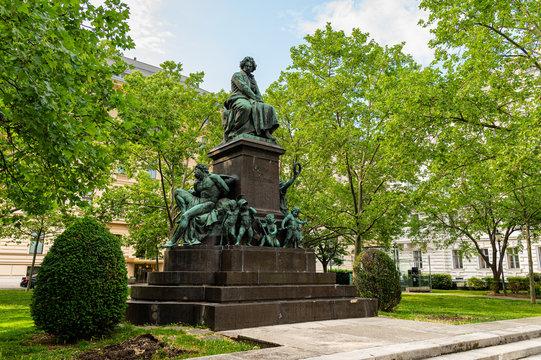 Monument of Ludwig van Beethoven in Vienna