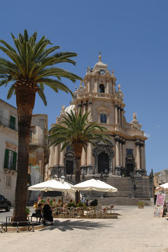 Italy  Sicily  Ragusa , 07/06/2007: The Cathedral of San Giorgio