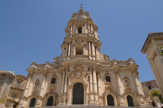 Italy  Sicily  Modica , 07/07/2007: The Duomo of San Giorgio