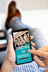 text do you speak German in German in a smartphone
