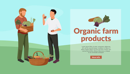 Organic Farm Products Background