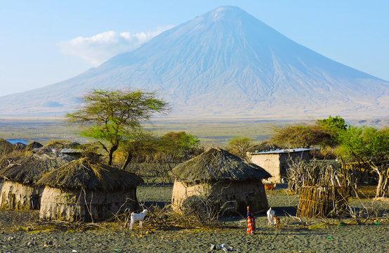 Pueblo rural en Tanzania